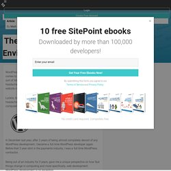 The Ultimate WordPress Development Environment — SitePoint