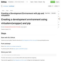 Creating a Development Environment with pip and virtualenv · zookeepr/zookeepr Wiki