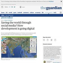 Saving the world through social media? How development is going digital