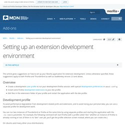 Setting up an extension development environment - MDC