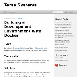 Building a Development Environment with Docker - Terse Systems