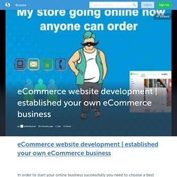 established your own eCommerce business (with image) · aniketkumar