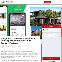 Plunge into the development of real estate apps like Trulia built with exclusive features - Blog
