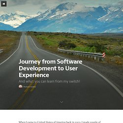 Journey from Software Development to User Experience