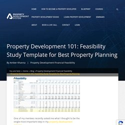 Property Development 101:Feasibility Study Template for Property Planning