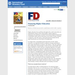 Finance & Development, June 2005 - Financing Higher Education