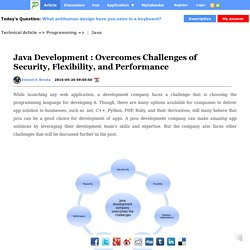 Java Development : Overcomes Challenges of Security, Flexibility, and Performance