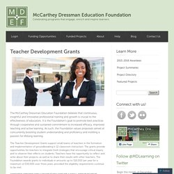 Teacher Development Grants « McCarthey Dressman Education Foundation