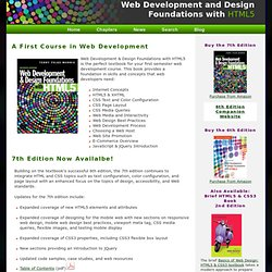 Web Development & Design Foundations with HTML5, 6th Edition