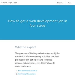 How to get a web development job in four steps
