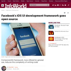 Facebook's iOS UI development framework goes open source