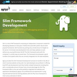 Slim Web Development Company, Hire Slim Framework Developer - Agriya