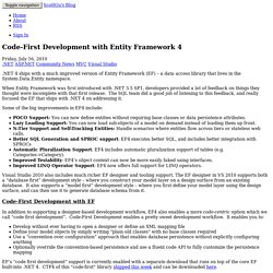 Code-First Development with Entity Framework 4