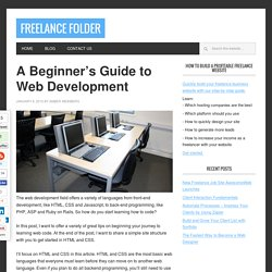 A Beginner's Guide to Web Development