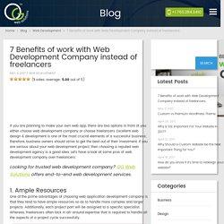 7 Benefits of work with Web Development Company instead of freelancers - OG Web Solutions – OG Web Solutions