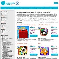 Good Apps for Personal, Social & Emotional Development : Fundamentally Children