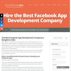 Facebook App Development Services in Bangalore, India
