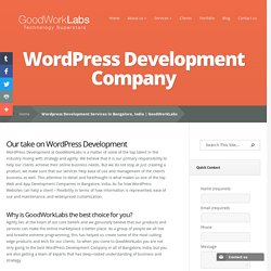 Wordpress Development Services in Bangalore, India