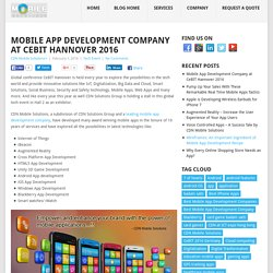 Best Mobile App Development Company @ CeBIT Hannover 2016