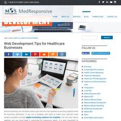 Web Development Tips for Healthcare Businesses