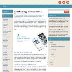 Best Mobile App Development USA ~ Hiteshi - Website Development and Mobile App Development Company USA