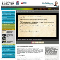 The development of anti-Jewish laws - The Holocaust Explained Website