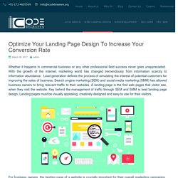 Landing pages design to boost up the conversion rate
