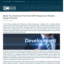 Responsive Website Design How Crucial It Is For A Business Website?