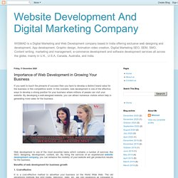 Website Development And Digital Marketing Company: Importance of Web Development in Growing Your Business