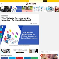 Why Website Development is Important for Small Business?