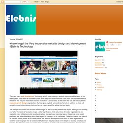 Custom Website Design: where to get the Very impressive website design and development -Elebnis Technology