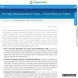 iOS App Development in India – A Few Rules to Follow