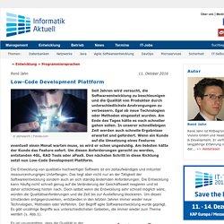 Low-Code Development Plattform - Informatik Aktuell