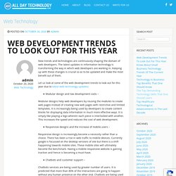 Web Development Trends To Look Out For This Year