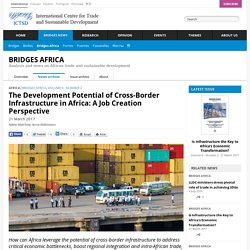 The Development Potential of Cross-Border Infrastructure in Africa: A Job Creation Perspective