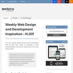 Weekly Web Design and Development Inspiration – N.109