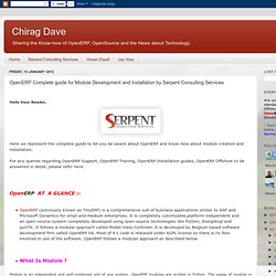 OpenERP Complete guide for Module Development and Installation by Serpent Consulting Services