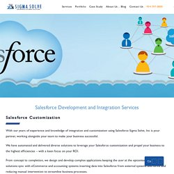 Sales Force Development and Integration Services - Sigma Solve Inc.