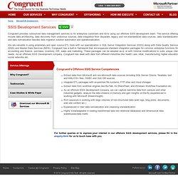 Finest SSIS Development Company – Congruent
