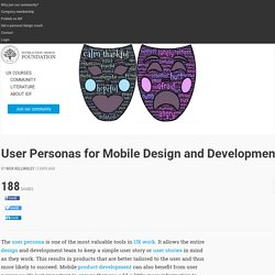 User Personas for Mobile Design and Development