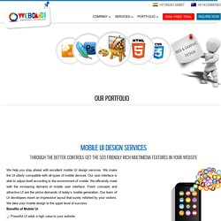 Mobile User Interface Services India