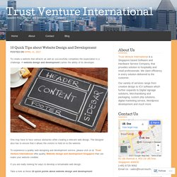 10 Quick Tips about Website Design and Development « Trust Venture International