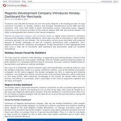 Magento Development Company Introduces Holiday Dashboard For Merchants