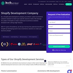 Affordable Shopify Store Development Services - iWebServices