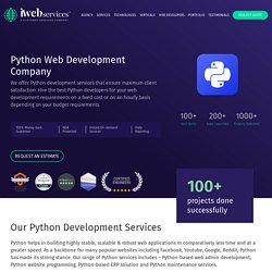 Best Company for Python Web Development Company-iWebServices