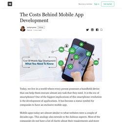 The Costs Behind Mobile App Development - Jackpriyalee - Medium