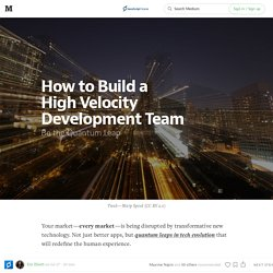 How to Build a High Velocity Development Team — JavaScript Scene