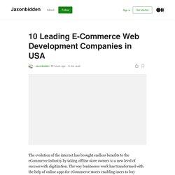 E-Commerce Web Development Companies in USA