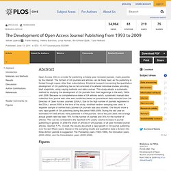 The Development of Open Access Journal Publishing from 1993 to 2009