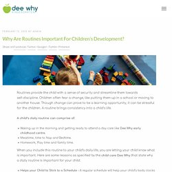Why are Routines Important for Children's Development?
